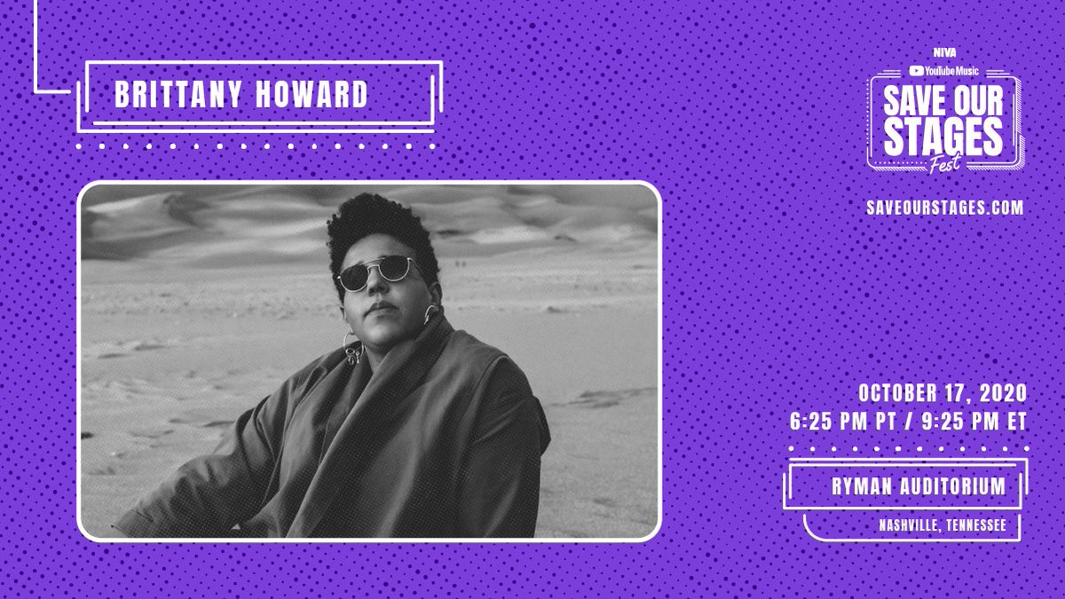 Brittany Howard (@blkfootwhtfoot) takes the stage at Nashville's @theryman. The music continues now to help #SaveOurStages. Let us know where you're watching #SOSFest from 👇 → https://t.co/icxoIKeDfq https://t.co/SBZlYyvl2S