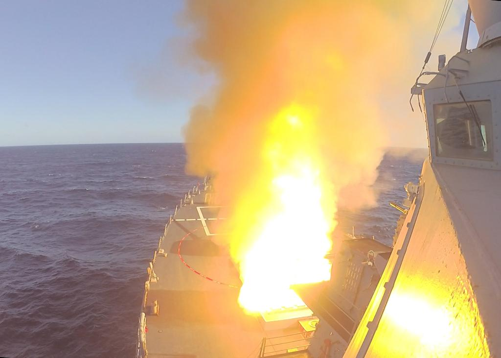 #USSDonaldCook Fires SM-2 During #JointWarrior 20-2. MORE INFO ➡️ go.usa.gov/x73Tw