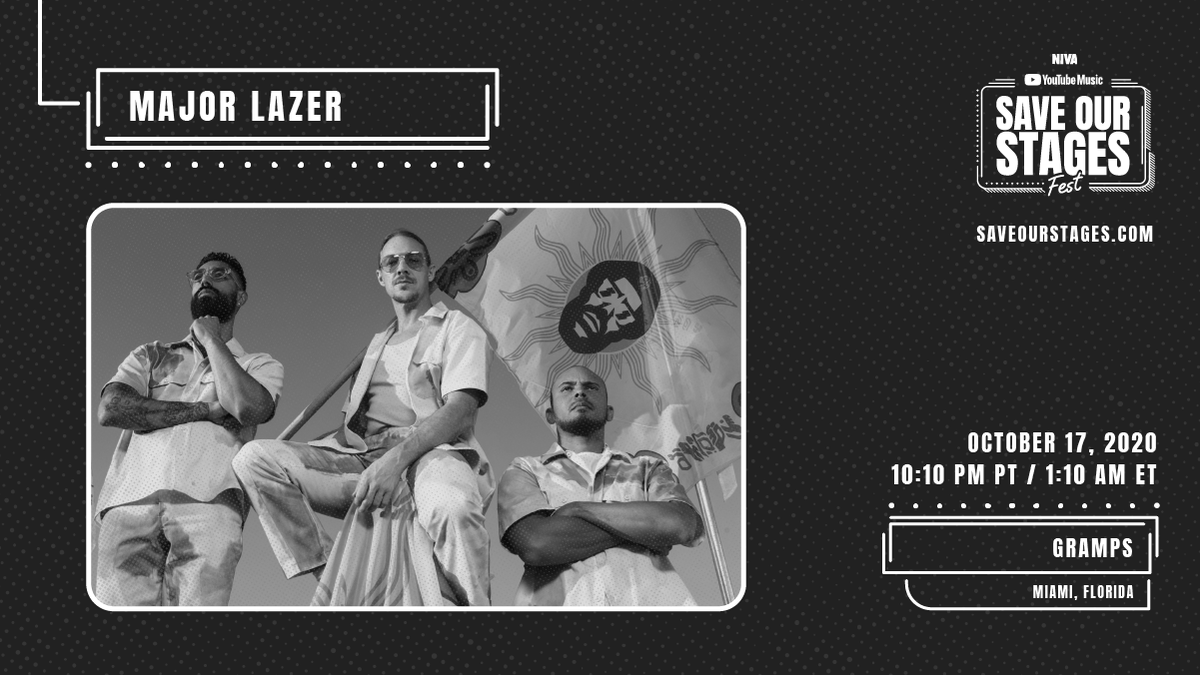 Guess who's coming to #SOSFest?   It's @MAJORLAZER closing out Day 2 with an epic performance from Gramps in Miami. Watch now & #SaveOurStages→ https://t.co/icxoIKeDfq https://t.co/H4AaczVaKP