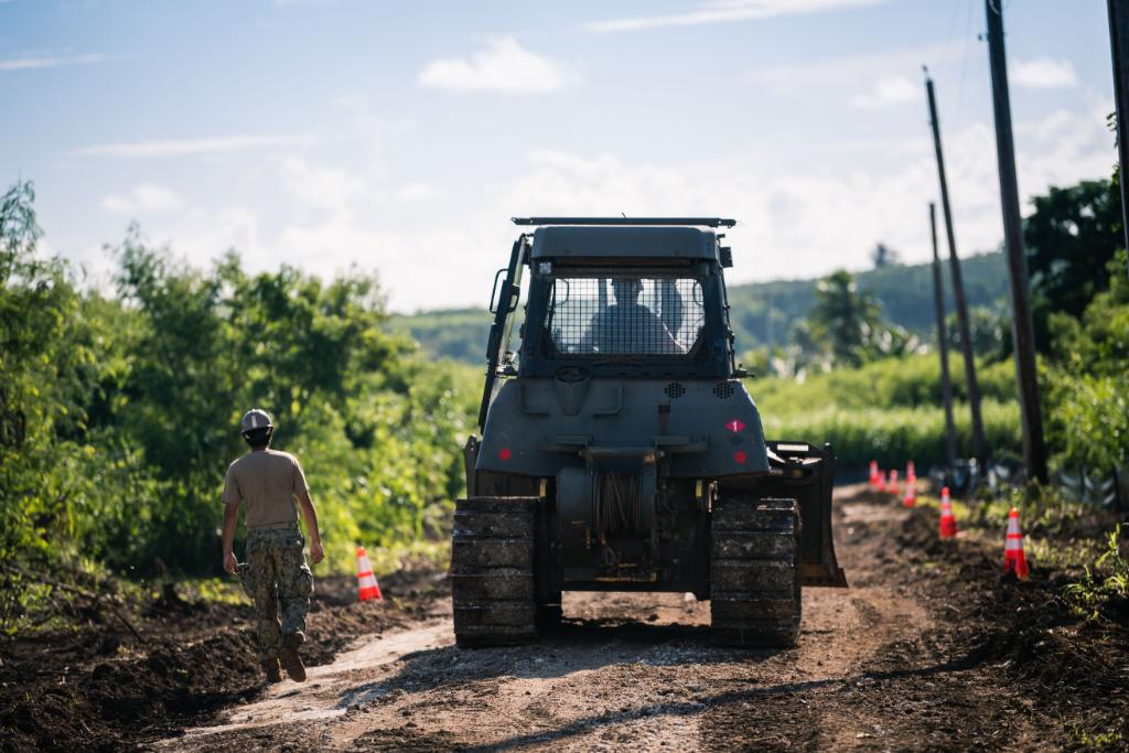 #USNavy Seabees improve roads in Tinian, Northern Mariana Islands during a @DeptofDefense innovative readiness training mission that leverages core capabilities combined with local resources to produce mission-ready forces, civil-military partnerships, & stronger communities.