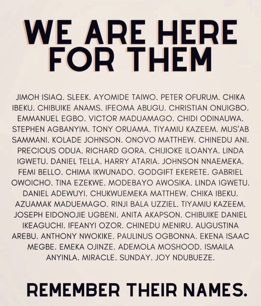 Eternal rest grant unto them, O Lord, and let perpetual light shine upon them. May the souls of the faithful departed, through the mercy of God, rest in peace Amen. 🕯🕯🕯🕊🕊🕊🕊 #EndSARS #EndSARS #EndPoliceBrutality #EndSWAT https://t.co/sAWWmsfu6G