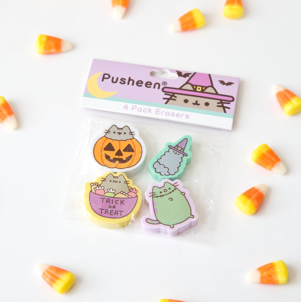 What are you looking forward to this #Halloween, the tricks or treats? #PusheenErasers bit.ly/352Cbz6