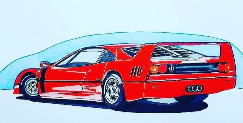 #FerrariFriday #F40 #mnartists #drawingcars https://t.co/Qfw6dHOUK3