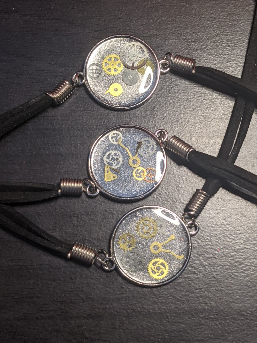 Check out these #steampunk style bracelets! More designs coming soon and even more #steampunk items coming! #etsyhandmade #etsygifts #shoplocal #supportwomenrunbusinesses #supportsmallbusiness
