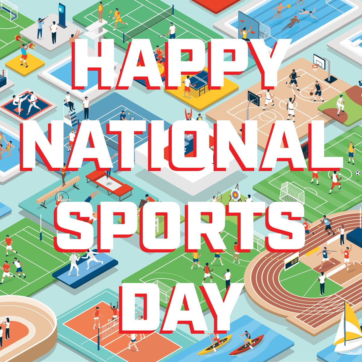 Sports is so important to our lives. It helps us stay strong and active. It teaches us about bravery and cooperation. It shows us that we can achieve new things. On top of all of that, it helps us make friends! Happy #NationalSportsDay! https://t.co/OLuXEAn0xP