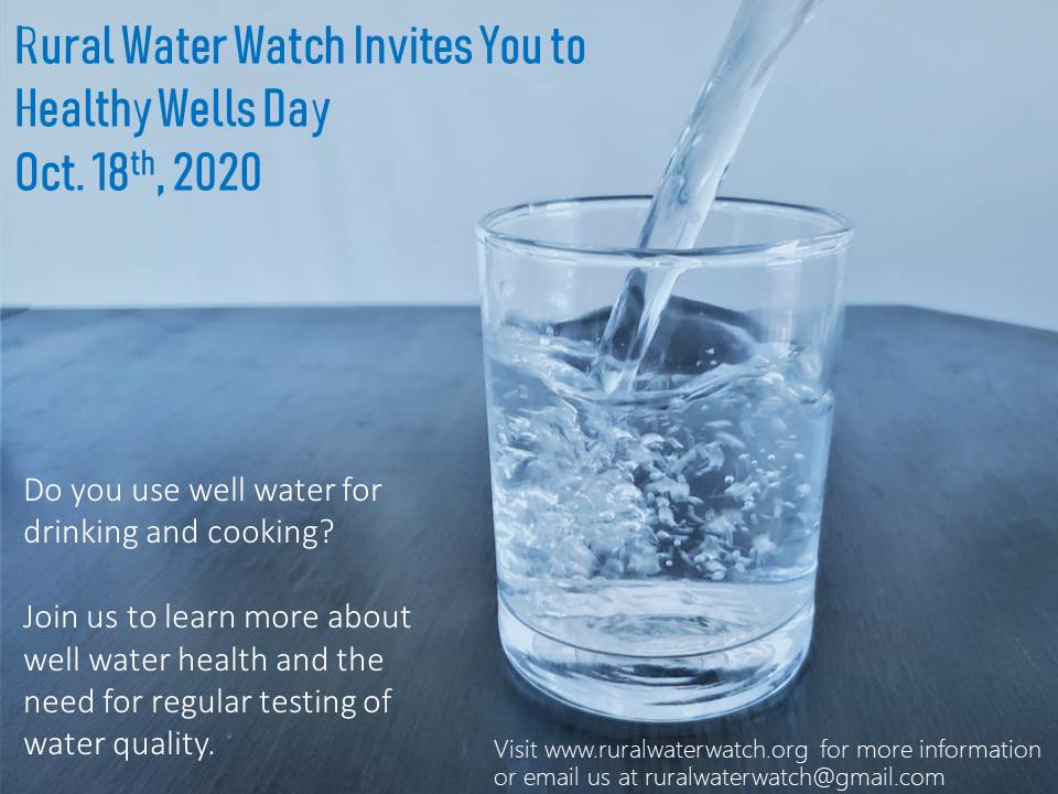 Rural Water Watch invites you to Healthy Wells Day this Sunday, Oct. 18. The day will begin with community water sampling events in Greenville, Carrolls Corner & Weymouth Falls, continue with informational posts and conclude with a Facebook Live Event: facebook.com/ruralwaterwatch