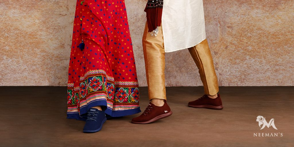 """We've always heard the phrase """"Think outside the box"""", but have we ever stopped to wonder who defines this BOX? Who is it that tells us what is good or bad, right or wrong? Why can't we pair a lehenga or a sherwani with a pair of Sneakers? This festive season, YOU define the box! https://t.co/2urOeHtX63"""