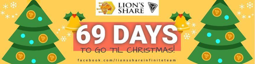 🎄69 DAYS TO GO 'TIL CHRISTMAS! Are You Not In Lion's Share Yet? If you are, then you are on your way to making this coming Holiday Season and End of Year - MERRY and BRIGHT with your TRONLINK WALLETS OVERFLOWING!!  https://t.co/AjXRdxfJ2D  #lionsshare #forsage #tron #trx #eth https://t.co/td6XijOLnX