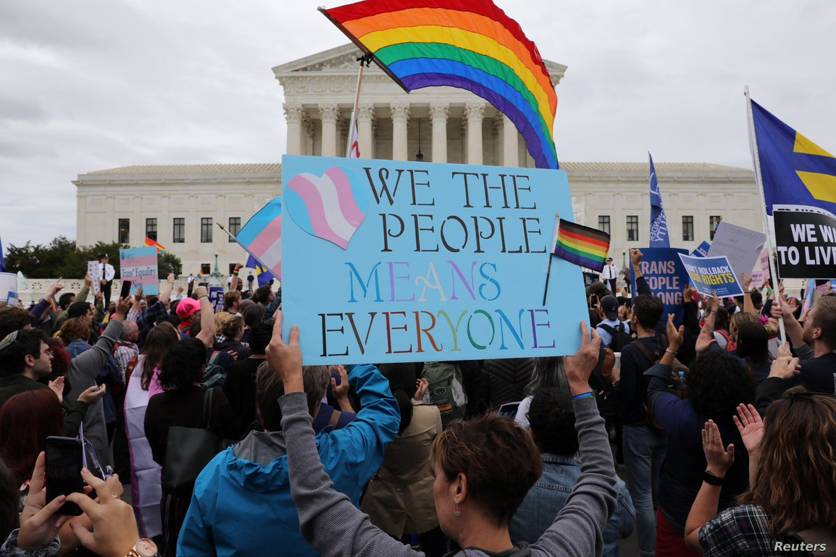 #Democrats applaud this year's  #SCOTUS decision that made clear that employment discrimination based on sexual orientation & gender identity violates the law, but we know we still have work to do to ensure LGBTQ+ people are treated equally under the law and in our society. 2/10