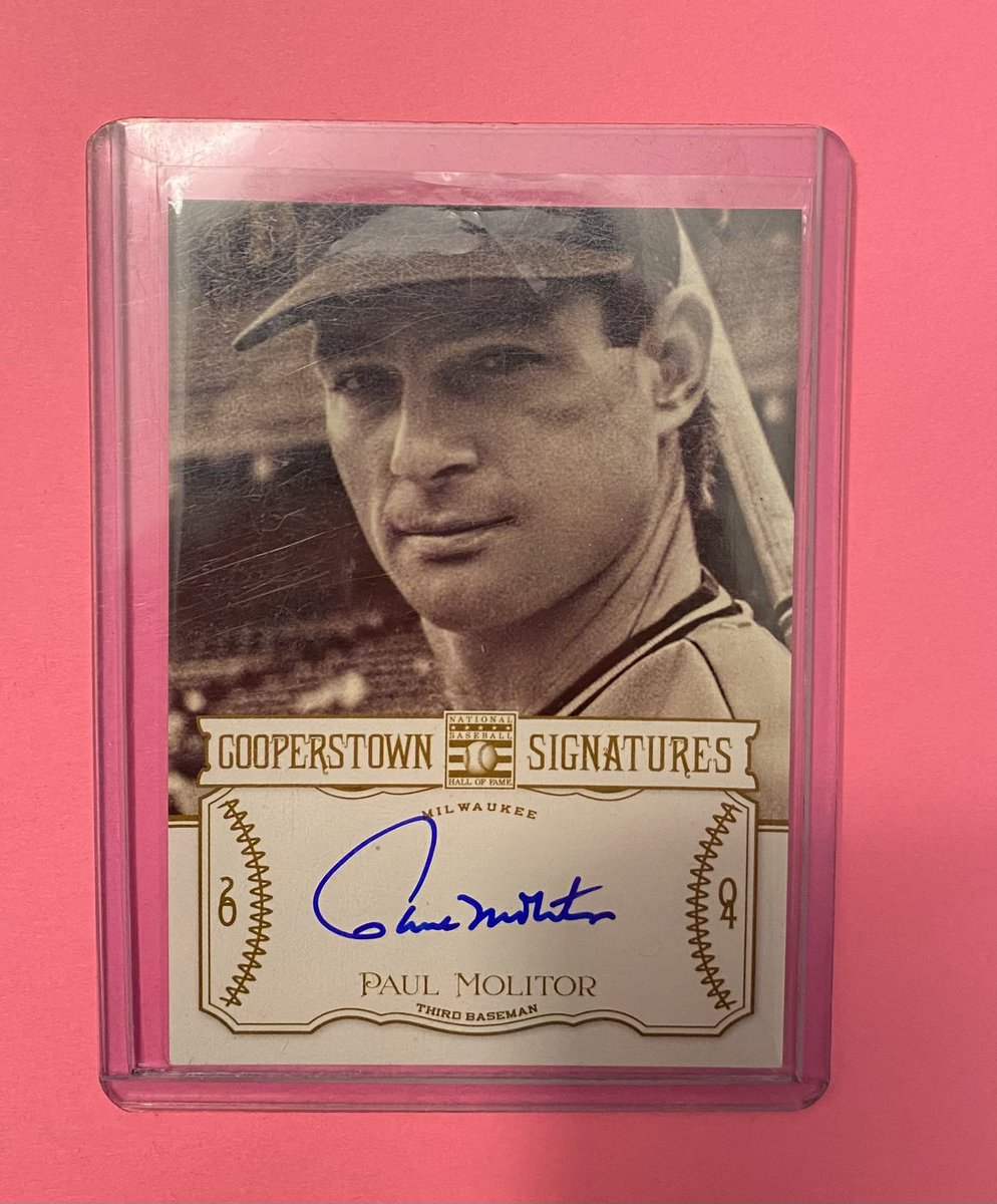 2013 Panini Cooperstown Signatures Paul Molitor #HOF-MOL 297/490  👉 $13 shipped 👉 https://t.co/dYYO9SSmTJ  @HobbyConnector @HiveCards @Hobby_Connect @DailySportcards @sports_sell #tradingcards #milwaukee #brewers #brewcrew #thisismycrew #collect #thehobby #hobbybst #panini #hof https://t.co/4nisAIdbSF