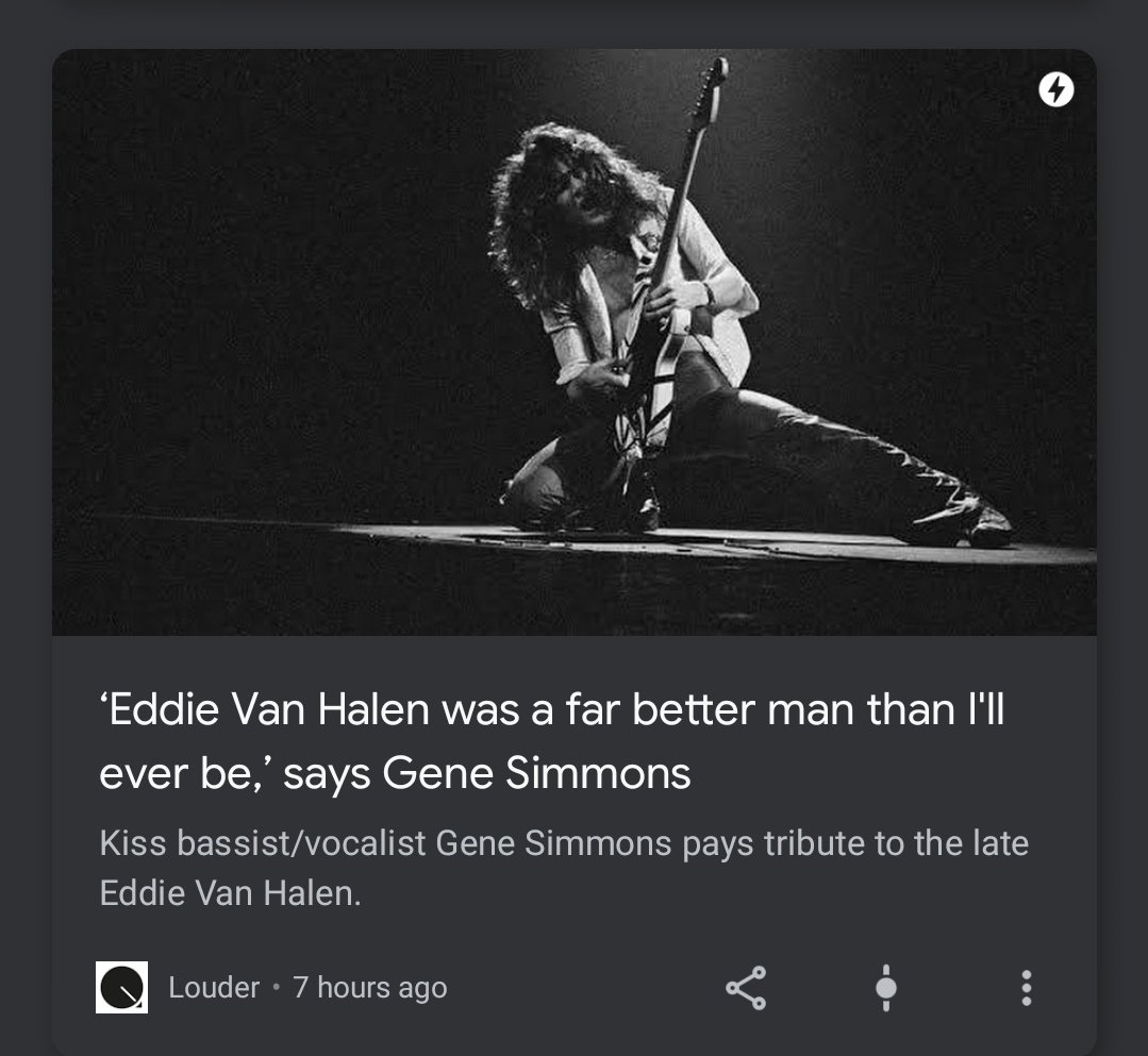 Without really knowing anything about Eddie Van Halen: can confirm. https://t.co/yv2o0aBtT2