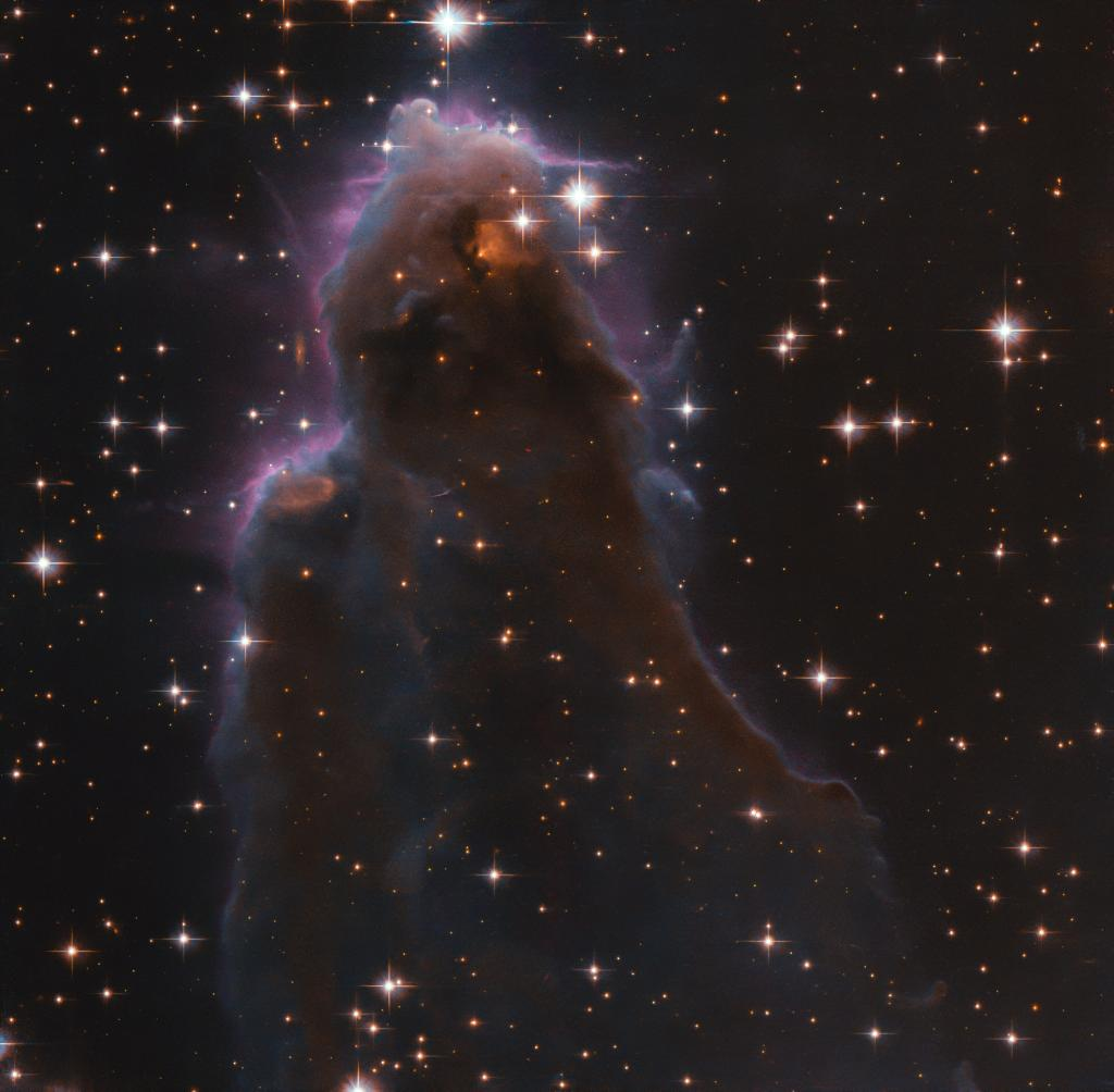 This is where stars are born. This @NASAHubble image shows a frEGG, or a Free-floating Evaporating Gaseous Globule. It occurs when a massive new star starts to shine while still within the cool gas cloud from which it formed: go.nasa.gov/2H8AnMS