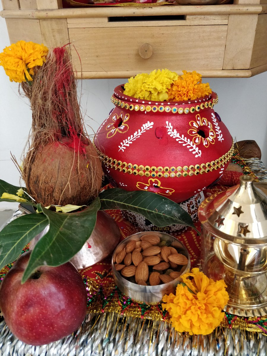 May Ambe maa shower all her blessings on you and your family. HAPPY NAVRATRI!  Garba sthapana in our home temple https://t.co/k5z3S4RvqV