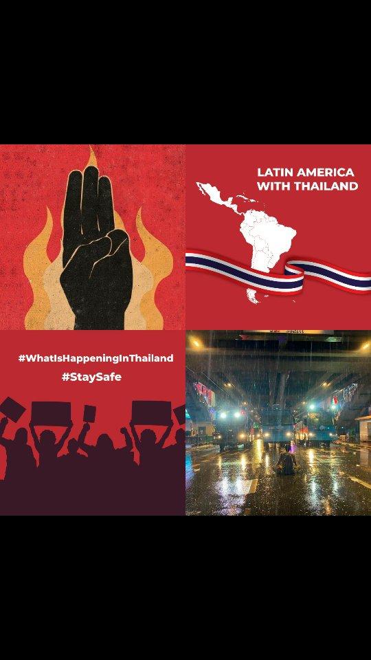 #whatishappeninginthailand  #StatSafe  #latinamericawiththailand https://t.co/w1R6BAUpWs