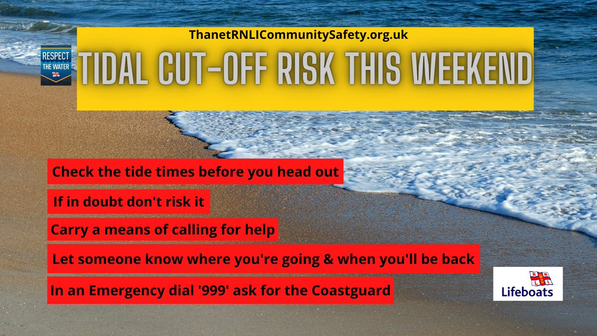 🌊Spring tides are expected this weekend which means you could easily get cut off by the incoming tide. More info on coastal safety⬇️  https://t.co/PKp9Sk1Ajn  #weekend #COVID19 #bebeachsafe https://t.co/lFMGFtJShM
