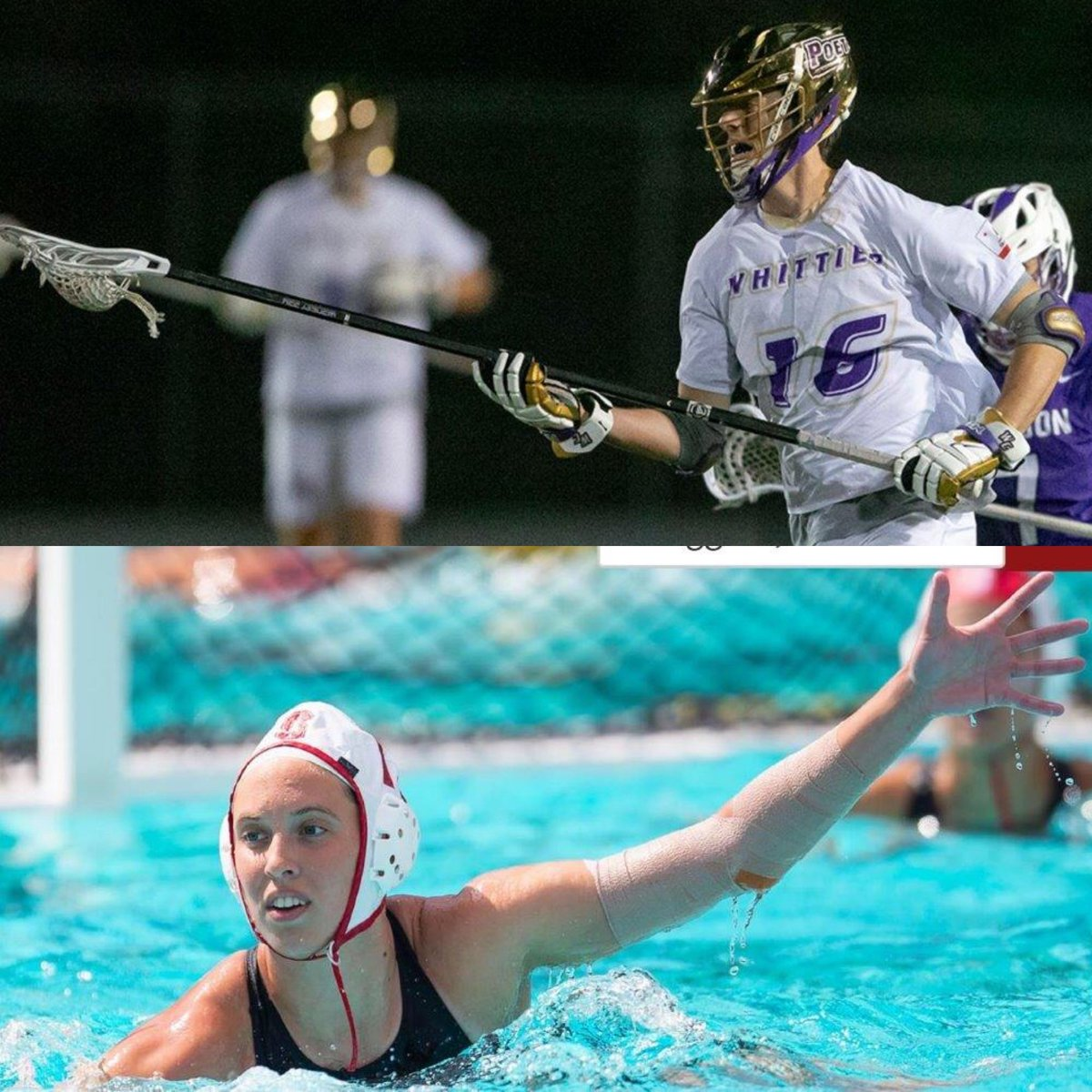 🐺TUALATIN 🥍🤽♀️ ALUMNI 🐺 Very rare to have 2⃣ siblings pursue their passion for Athletics at the Collegiate Level. Madison Berggren (15) - Water Polo Stanford University. Jacob Berggren (17) - Lacrosse Whittier College.