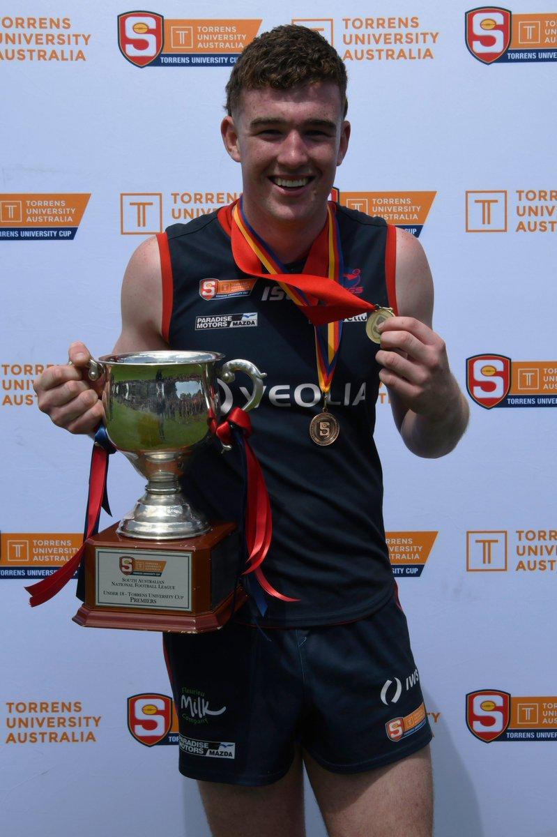 Congratulations @NorwoodFC Nathan Hearing!  2020 Alan Stewart Medallist - Best on Ground in the U18 @TorrensUni Cup Grand Final. 🏅👏👌 📸@_ontheballmedia Hannah Howard https://t.co/xS5gWfJRAG