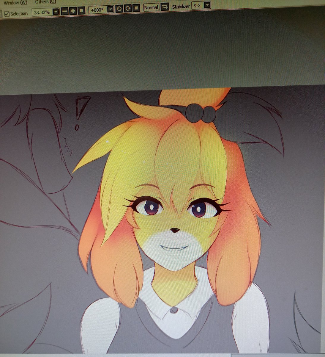 Small sneak peek of my next art 👀 #wip #animalcrossing #isabelle https://t.co/6PP2qlj1Gs