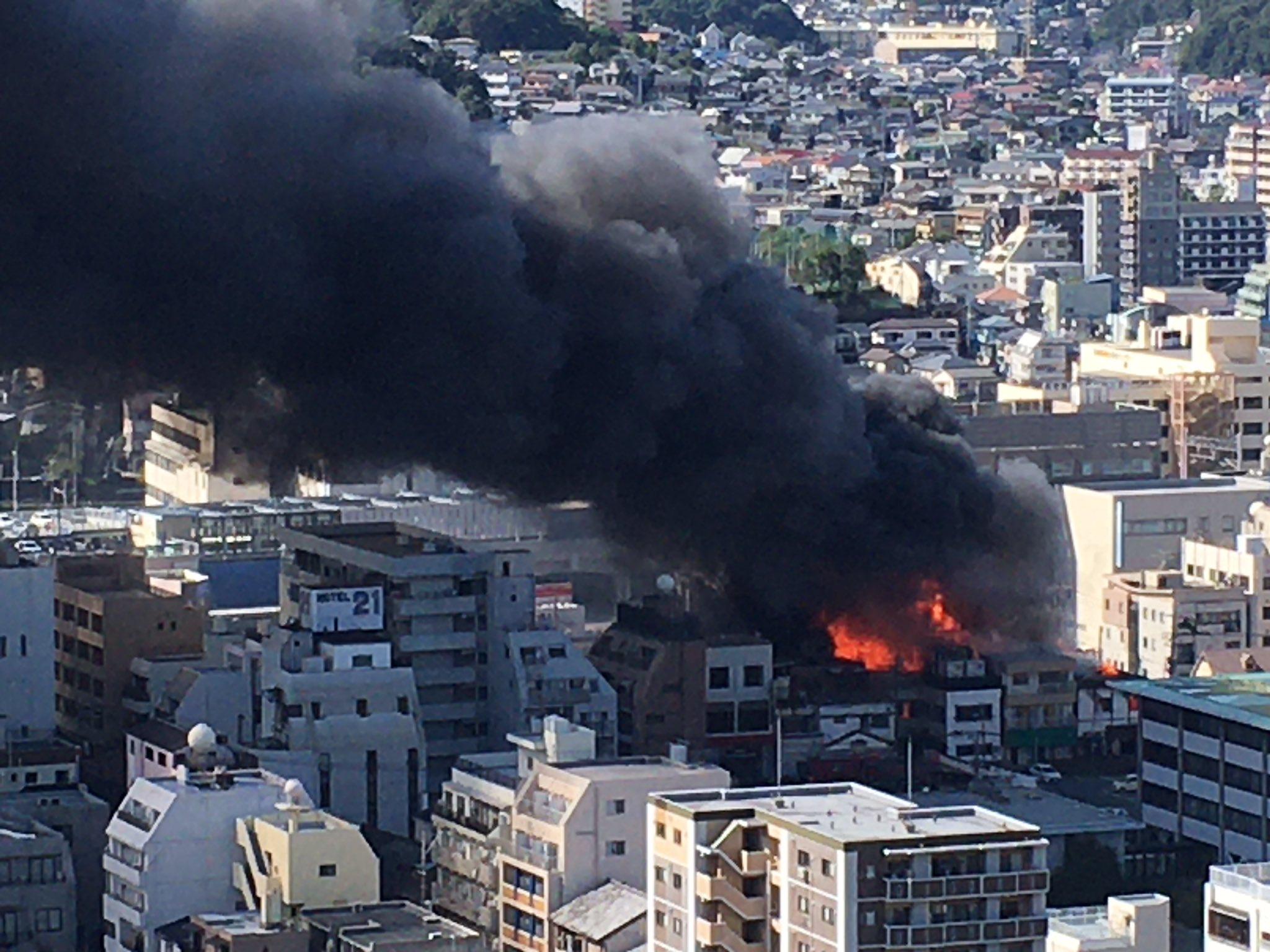 画像,炎が上がって煙ひどい早く消して〜#長崎 #火事 https://t.co/xo3ceSimxj。