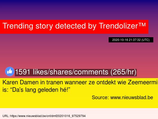 "Karen Damen in tranen wanneer ze ontdekt wie Zeemeermin is: ""Da's lang geleden hé!"" https://t.co/2DOF9B7tMl https://t.co/9QaVaDZwe4"