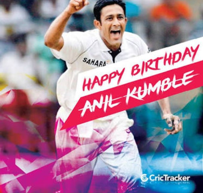 Very happy birthday to legend Anil kumble.
