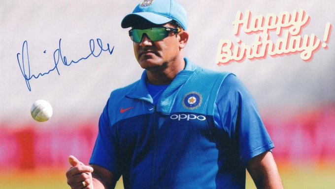 Happy Birthday to Anil Kumble.