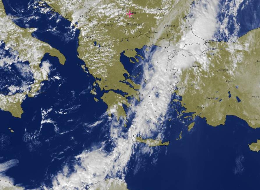 Άργησε , αλλά πλέον κινείται ανατολικότερα και ο καιρός ανοίγει. Δίπλα η αυριανή προγνωστική εικόνα μας το μεσημέρι που μας δείχνει ότι την Κυριακή ο καιρός θα κυλήσει χωρίς προβληματα με λίγες βροχές σε Αν. Αιγαίο & το βραδυ θα επικρατήσει βοριάς 6 μπ hnms.gr/emy/el/forecas…