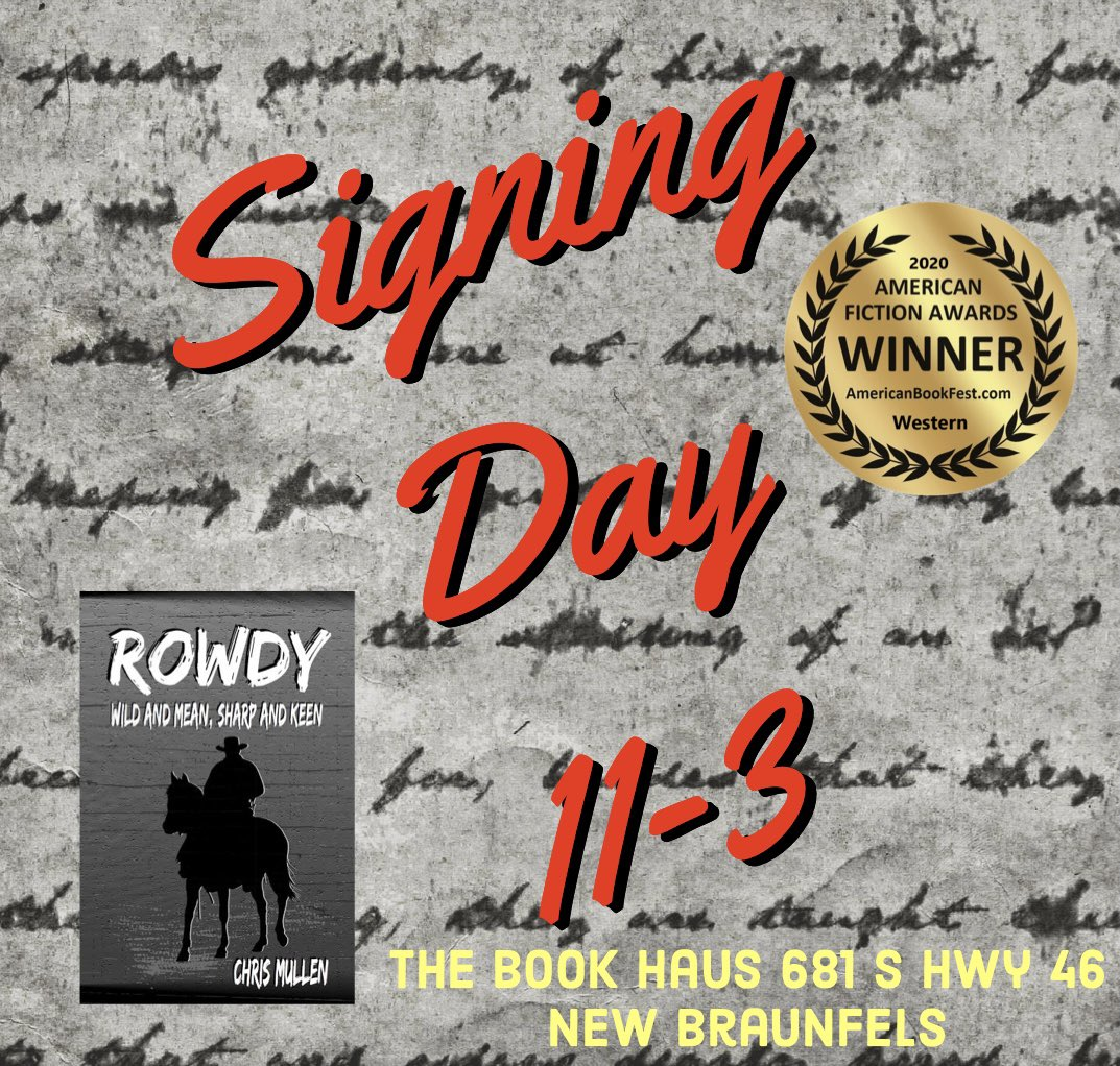 @HausBook Let's get new, exciting things to read into the hands of new and exciting people!  https://t.co/I1VGP9lS1M #ReadRowdy #authorsigning #newbraunfels #newbraunfelstx #seguintexas #comalcounty #indiebookstore #indieauthor #shoplocaltv #sidewalksale https://t.co/E5JCHCmZwE