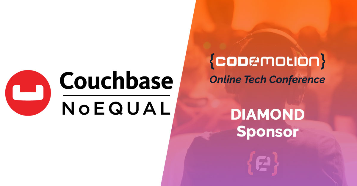 Will you be with us this Tuesday (October 20) to kick off our #CodemotionConf? Among the Diamond sponsors we'll have @couchbase 🚀🚀It's amazing to have them on board! More info here: https://t.co/1SpewjeJ37 https://t.co/RkMZ5bP6nW