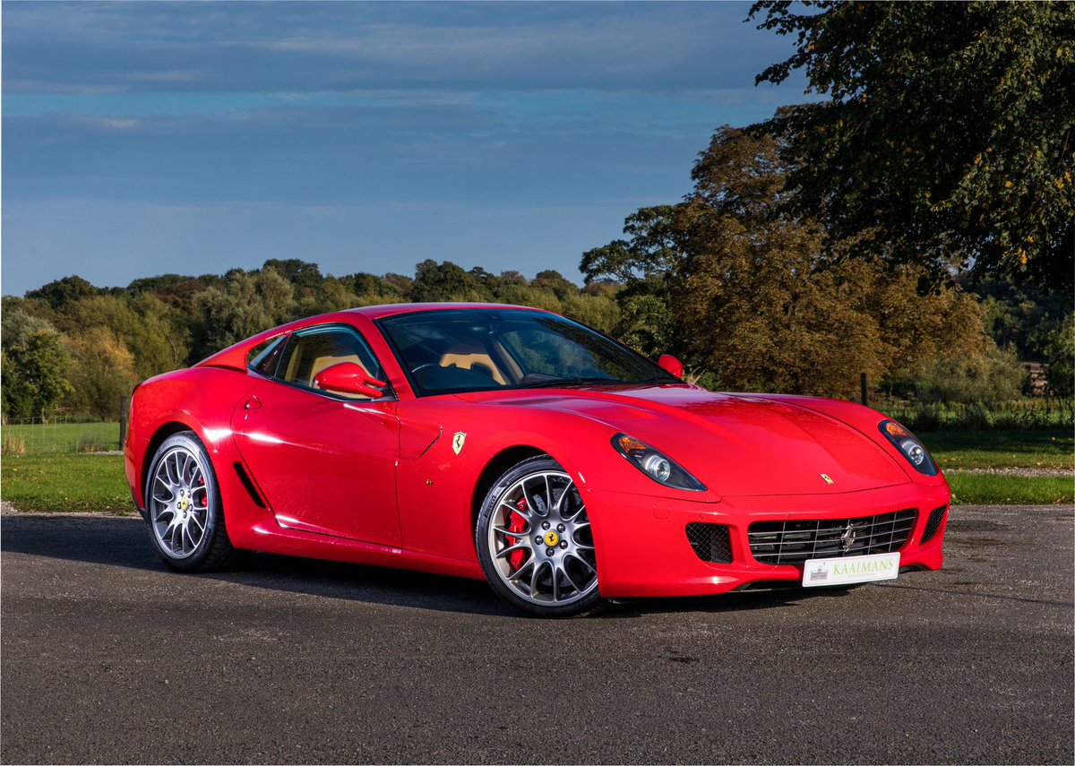 The immaculate the Ferrari 599 GTB Fiorano F1 🔥 Full Beige leather interior with Daytona style seats, Carbon trim, and Giallo instrument dial. A spectacular 2007 example with only 16,000 miles! Full details on our website. #Ferrari #Ferrari599 #599GTB #Supercar https://t.co/8o7pXKJwt9