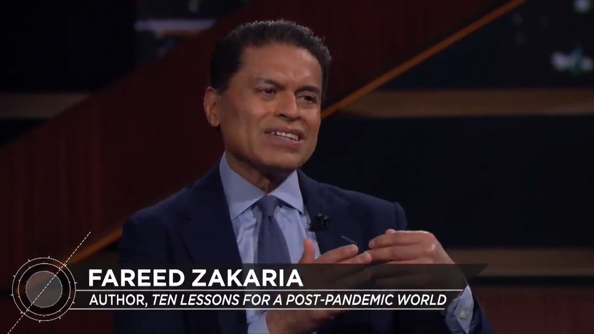 This [pandemic] should be a wake-up call to realize we've been living in a way that is very risky. Watch @FareedZakaria join @BillMaher on last nights #RealTime: