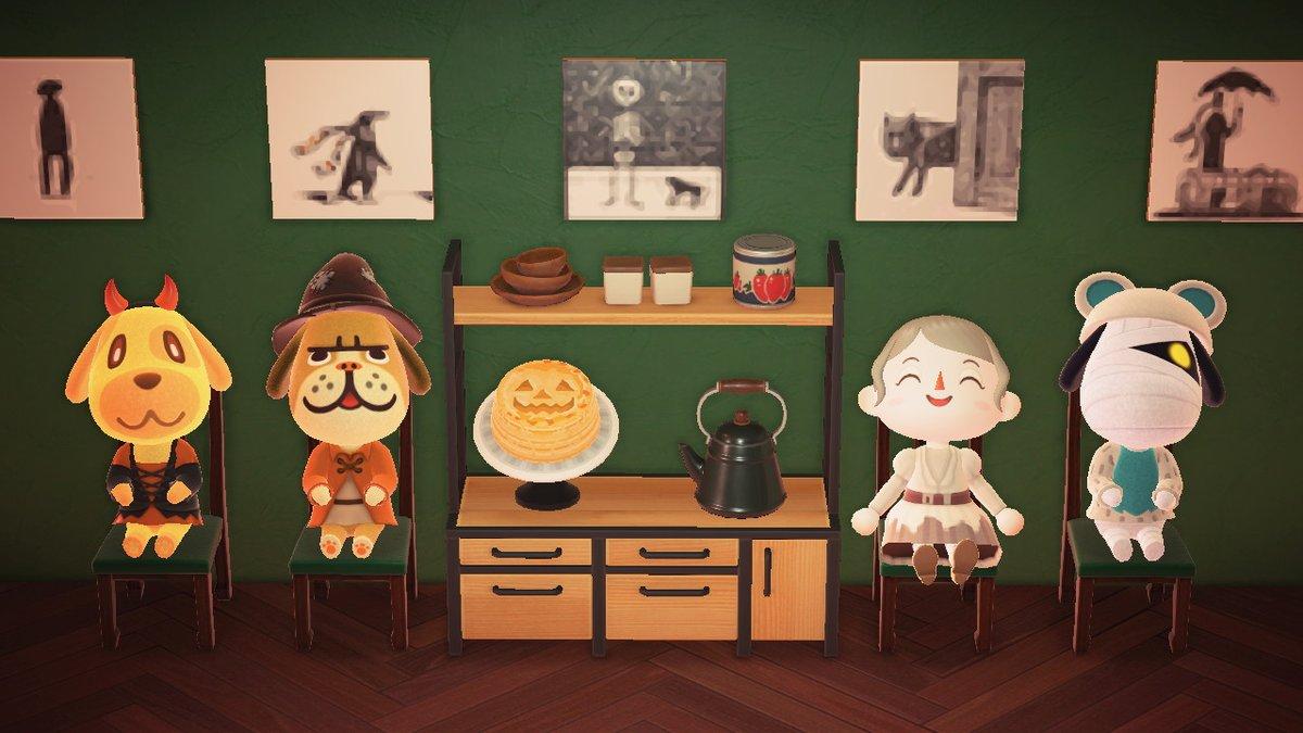 #どうぶつの森 #AnimalCrossing #ACNH #NintendoSwitch #あつ森 #パンプキンパイ #mydesign #マイデザイン #ハロウィン #マイデザパンプキンパイ焼いてみました。