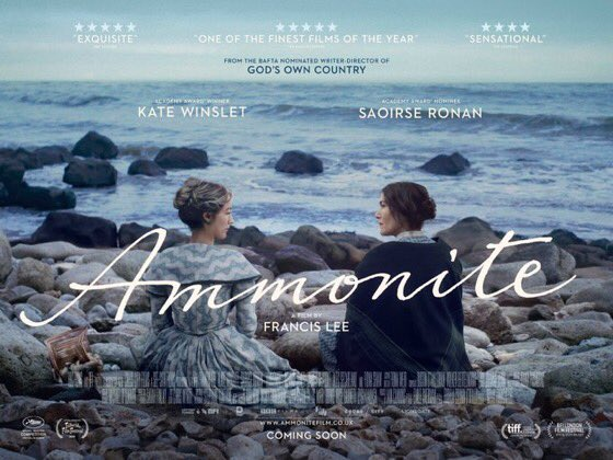 Tonight Ammonite screens @BFI #LFF (and 300 screens across the UK). Due to current restrictions, I won't be in London but I want to thank my family, friends and everyone who's supported me through this incredibly difficult journey. I'm terrified but I hope you like the film ❤️