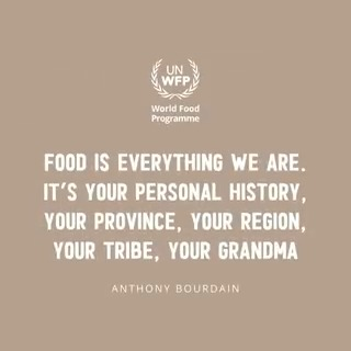 Food is everything we are. 💙 What does food mean to you?