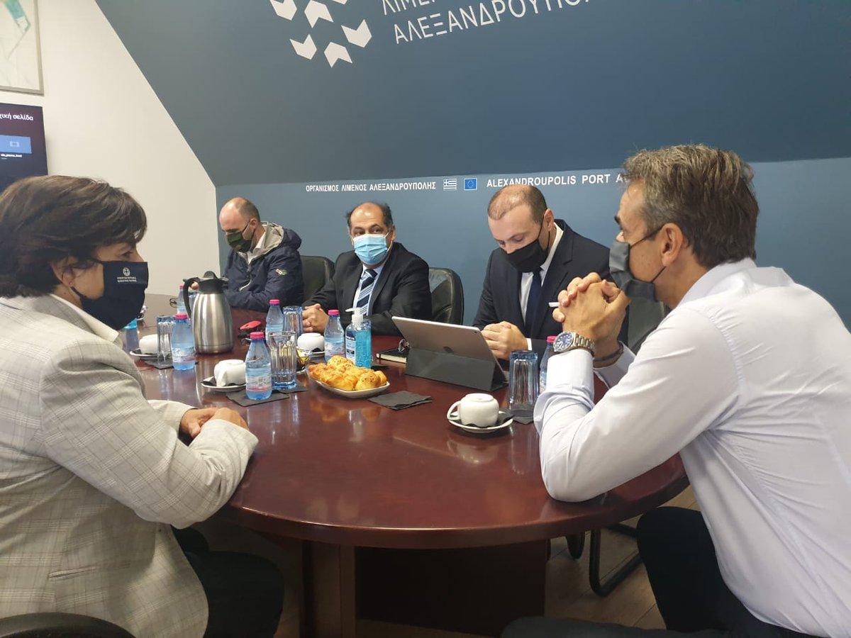 Με χαρά υποδεχόμαστε σήμερα τον Πρωθυπουργό Κυριάκο Μητσοτάκη στον Οργανισμό Λιμένα Αλεξανδρούπολης και ακολούθως στη Σαμοθράκη.