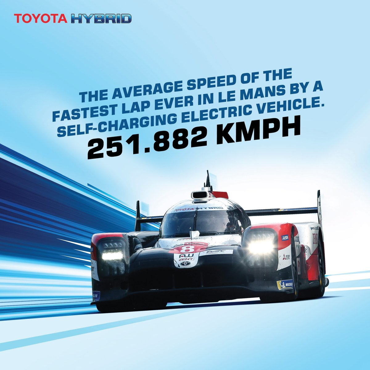 Toyota's self-charging hybrids are engineered to utilise power from their combustion engine as well as the hybrid electric system to propel them forward faster. Often hitting blinding speeds in excess of 350 kmph. #ToyotaHybrid #LeMans24 #ToyotaGAZOORacing #SelfCharging https://t.co/sXiVNTCBob