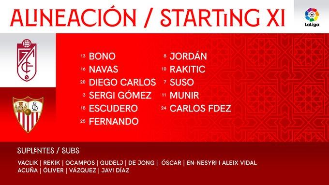 EkhcHWYXEAE_H9h?format=jpg&name=small Alineación confirmada del Sevilla para jugar ante el Granada - Comunio-Biwenger