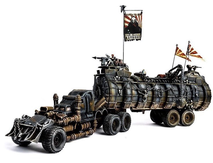Mr Karnage https://t.co/Hl3niflLjn proves his Immortan status with this magnificent kitbashed War Rig bristling with features, including a ton of #AutoKill upgrades! https://t.co/0AdIG19hsZ 🚗☠️🔥#warmongers #battlecars #carwars #darkfuture #devilsrun #gaslands #carcombat https://t.co/iLsVSTyVva