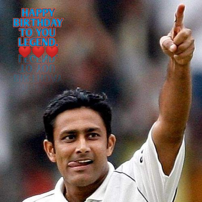 Happy Birthday the legend ANIL KUMBLE.