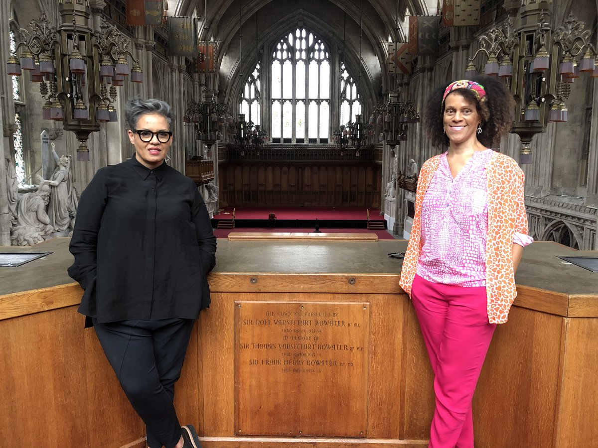 Interviewed by @KitdeWaal yesterday at the Guildhall, where the ceremony usually takes place, for a BBC @TheBookerPrizes prog in Nov. Great to catch up with Kit. I realised how much I miss hanging out with writers. Covid begone! More on the prize below. thebookseller.com/news/booker-pr…