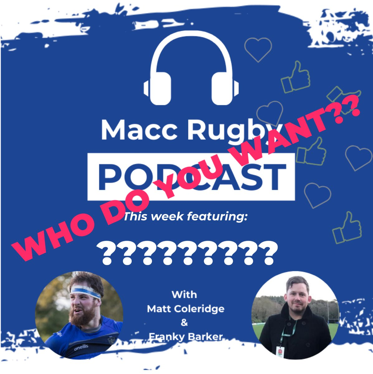 test Twitter Media - POD NEWS!! So we are handing over production duties to you the listener!! Let us know who you want to hear from in the club! Who deserves a mention and dragging on the pod? Who would make a good interviewer?!  Let us know and we will make it happen!!! #maccrugbypod https://t.co/tvk62S470H