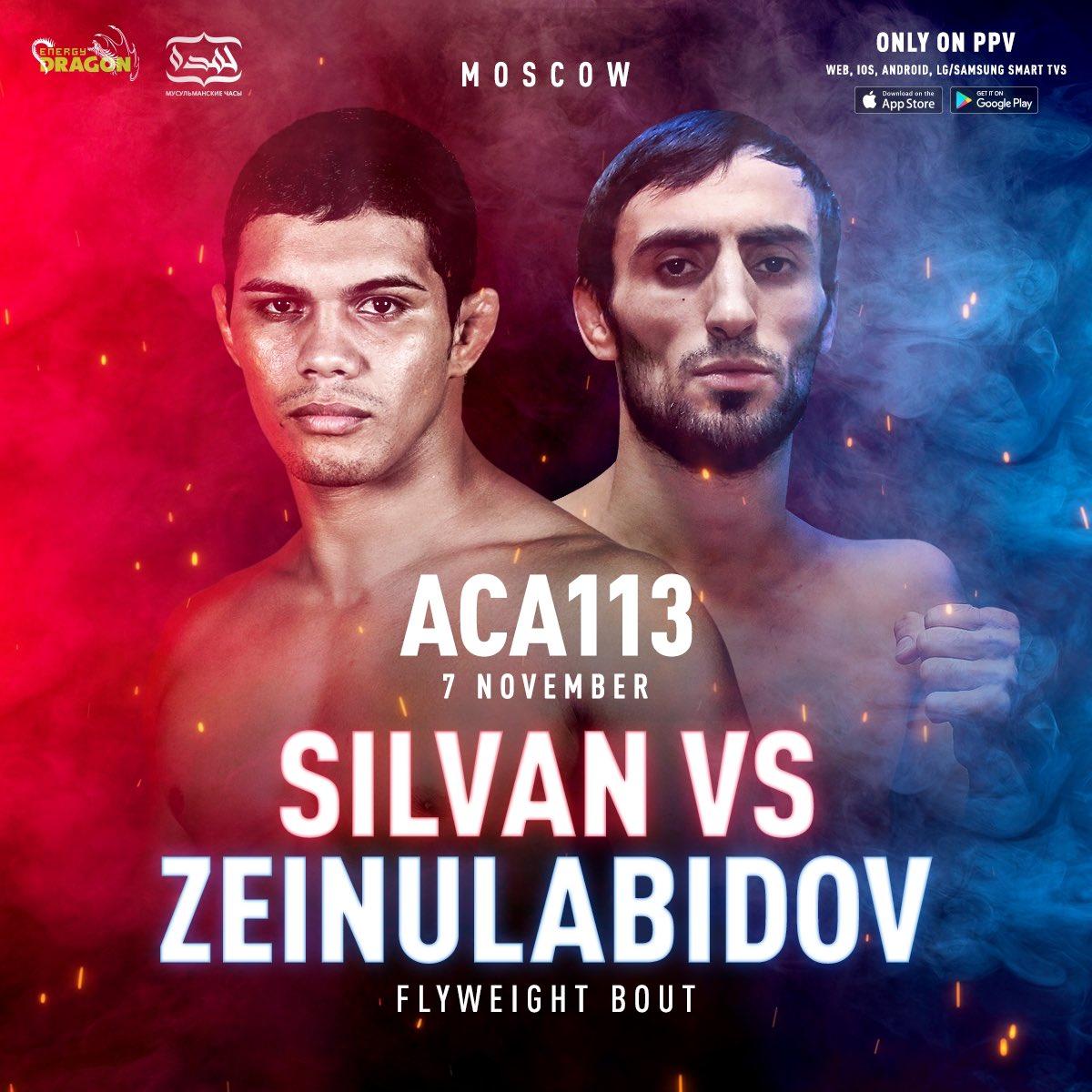 💥 Maycon Silvan (15-3) vs. Murad Zeinulabidov (20-3) on ACA 113! https://t.co/s7fqCpdFkB
