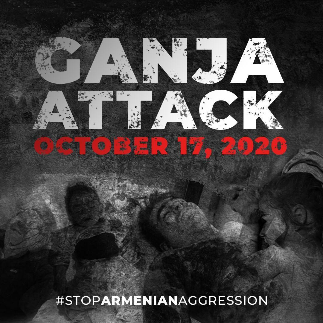 Ganja city was hit by SCUD missiles launched from Armenia in an attempt to disperse horror among peaceful population which has nothing to do with the conflict zone. Appalling. Who will stop this? #ArmeniaKillsCivilians #StopArmenianAggression #KarabakhisAzerbaijan #GanjaCity