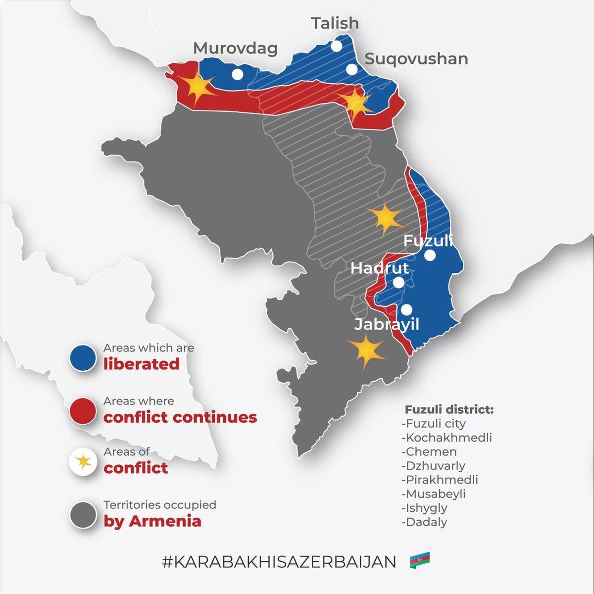 Azerbaijan Continues İts Counter-offensive Measures as a Part of the Pease Enforcement Operation. #KarabakhisAzerbaijan #GanjaCity
