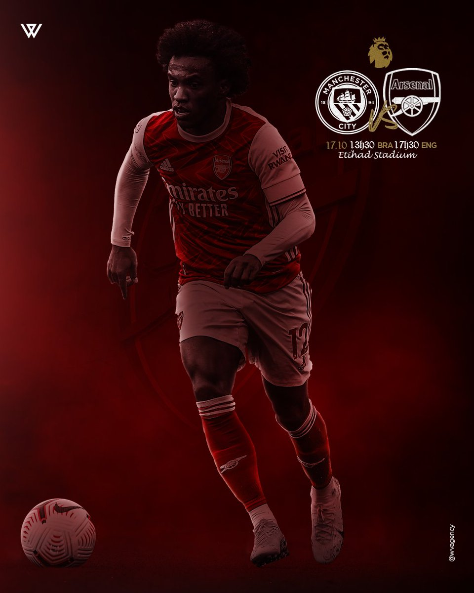 MATCHDAY! 💪 Manchester City x Arsenal ⚽️ Premier League🏆 Etihad Stadium 🏟 17h30 🇬🇧 13h30 🇧🇷  #premierleague #arsenal #W12 #Gunners