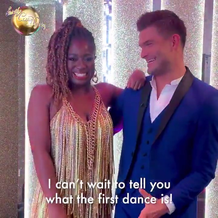 Now thats a reaction! 🙌 Are you screaming at home for @claraamfo and @AljazSkorjanecs pairing? #Strictly