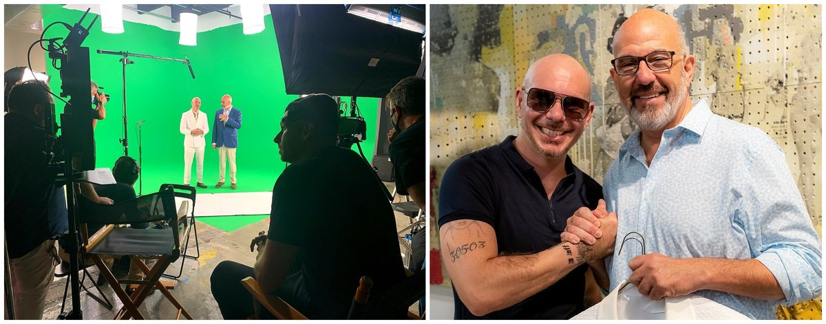 Yeah. it's gonna be spectacular. Lol.  @pitbull and I filming for a global youth takeover of the United Nations for the UN's 75th birthday next week. Making history in support of youth worldwide, filming in amazing VR/XR technology, working with #younga2020.  Details coming soon!