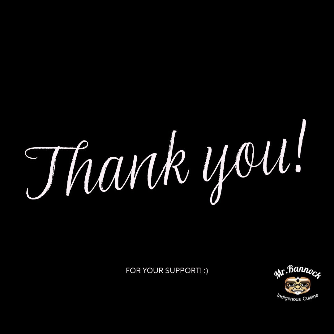 Last nights service was great! Hands up to people from all over the city who put in your orders and for the support. Its keeping us working and supporting other local food suppliers as well. Goes full circle #mrbannock #indigenouscuisine #supportlocal #buybc #northvan #westvan https://t.co/VWuWvy6StH
