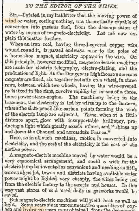 G.A. Keyworth of Hastings followed up a few days on 16th Sep 1863 later with an elaboration of his ideas: