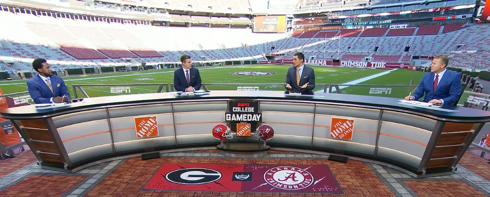 ESPN's @CollegeGameDay is live from Tuscaloosa. Lots of coverage on today's show to preview #UGAvsALA.